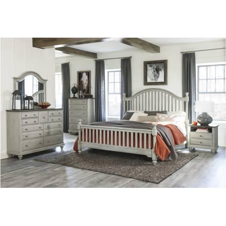 1568K-1CK*4 4PC SETS California King Bed + Night Stand + Dresser + Mirror