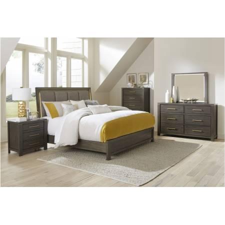1555K-1EK*4 4PC SETS Eastern King Bed + Night Stand + Dresser + Mirror