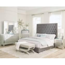 300621KE-S5 5PC SETS Eastern King Bed + Mirror + Dresser + Nightstand + Chest