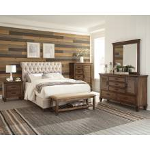 300525F-S4 4PC SETS Full Bed + Nightstand + Dresser + Mirror