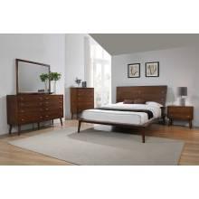 222601Q-S4 4PC SETS Wenham Queen Bed + Nightstand + Dresser + Mirror