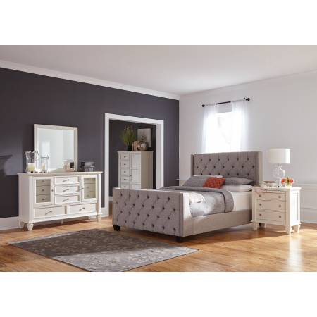 300708F-S4 4PC SETS Palma Full Bed + Nightstand + Dresser + Mirror