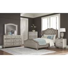 300824F-S4 4PC SETS Full Bed + Mirror + Dresser + Nightstand