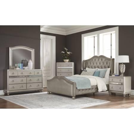 300824Q-S5 5PC SETS Queen Bed + Mirror + Dresser + Nightstand + Chest