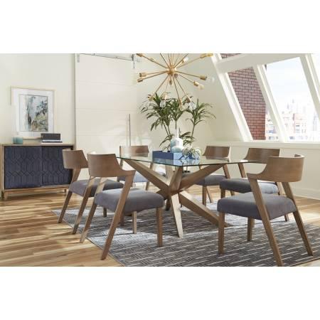 105151-S5 Artesia 5-Piece Rectangular Dining Set Grey Oak And Slate