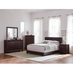 300762Q-S5 5PC SETS QUEEN BED + NIGHTSTAND + MIRROR + DRESSER + CHEST