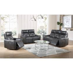 603241PP-S3 Jupiter 3-Piece Power^2 Living Room Set Charcoal