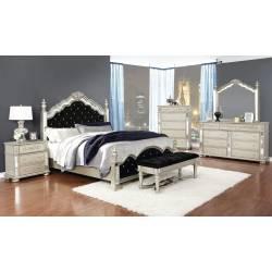222731KE-S4 4PC SETS Heidi Eastern King Bed + Nightstand + Dresser + Mirror