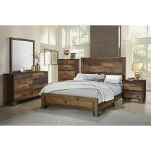 223141T-S4 4PC SETS Sidney Twin Panel Bed + Nightstand + Dresser + Mirror
