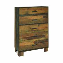 223145 Sidney 5-Drawer Chest Rustic Pine