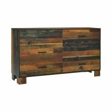 223143 Sidney 6-Drawer Dresser Rustic Pine