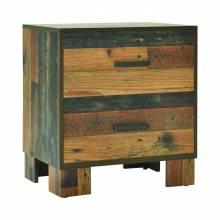 223142 Sidney 2-Drawer Nightstand Rustic Pine