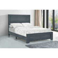 223151T Julian Twin Panel Bed Dark Grey Oak