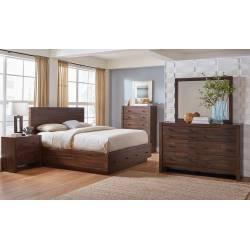 222910Q-S5 5PC SETS Biloxi Queen Storage Bed + Nightstand + Dresser + Mirror + Chest