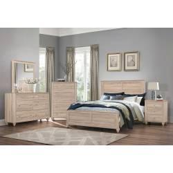 205461Q-S5 5PC SETS Wenham Queen Panel Bed + Nightstand + Dresser + Mirror + Chest