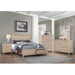 205460F-S4 4PC SETS Wenham Full Storage Bed + Nightstand + Dresser + Mirror