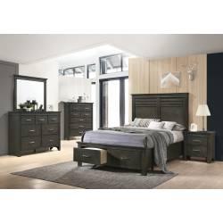 205430KE-S4 4PC SETS Newberry Eastern King Storage Bed + Dresser + Mirror + Nightstand