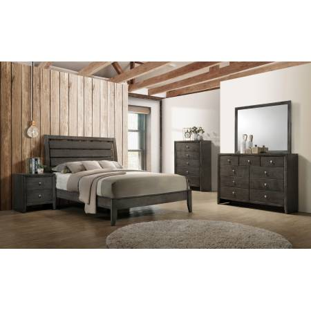 215841KW-S5 5PC SETS Serenity California King Panel Bed + Nightstand + Dresser + Mirror + Chest