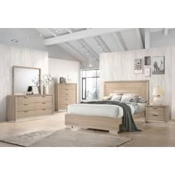 222591Q-S5 5PC SETS QUEEN BED + DRESSER + NIGHTSTAND + MIRROR + CHEST
