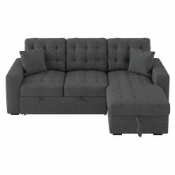 9916DG*SC 2-Piece Sectional with Pull-out Bed and Hidden Storage