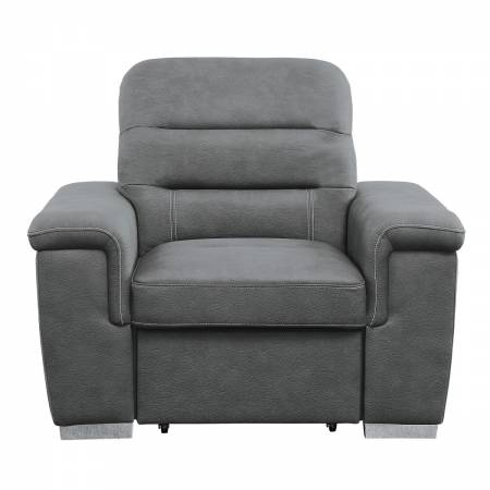 9808SGY-1 Chair with Pull-out Ottoman