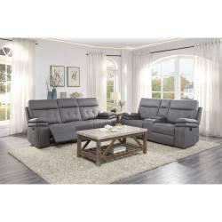 9590GY*2 2pc Set: Sofa, Love
