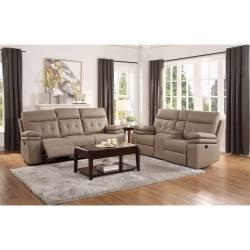 9590BR*2 2pc Set: Sofa, Love