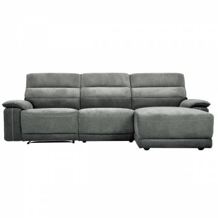 9512DG*3LR5R 3-Piece Modular Reclining Sectional with Right Chaise