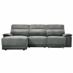 9512DG*35LRR 3-Piece Modular Reclining Sectional with Left Chaise