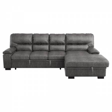 9407DG*2RC3L 2-Piece Sectional with Pull-out Bed and Right Chaise with Hidden Storage
