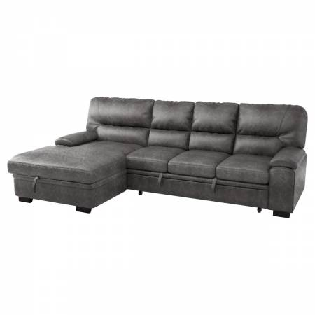 9407DG*2LC3R 2-Piece Sectional with Pull-out Bed and Left Chaise with Hidden Storage