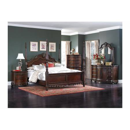 2243-1*4 4PC SETS Queen Poster Bed + NS + D + M