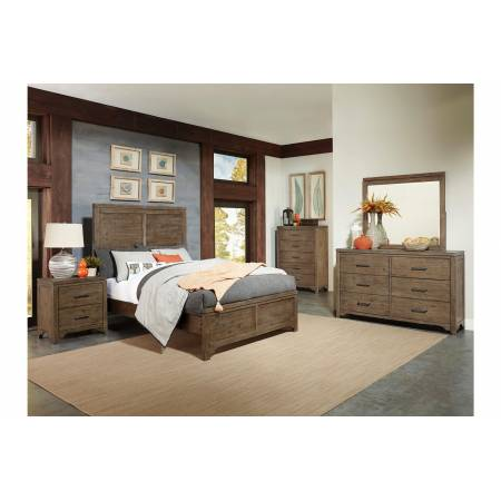 1756K-1CK*4 4PC SETS California King Bed + NS + D + M