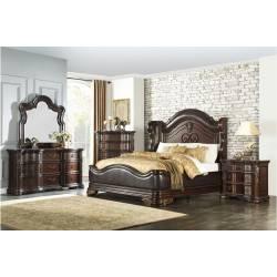 1603K-1CK*4 4PC SETS California King Bed + NS + D + M