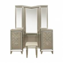 1522-15WF* Vanity Dresser with Mirror and LED Lighting