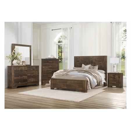 1509-1*4 4PC SETS Queen Bed + Night Stand + Dresser + Mirror