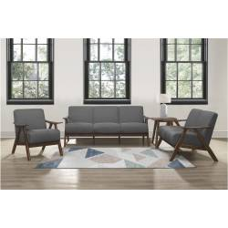 1138GY*3 3PC SETS Sofa + Love Seat + Accent Chair