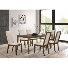 109841+109842*6 7PC SETS DINING TABLE + 6 CHAIRS