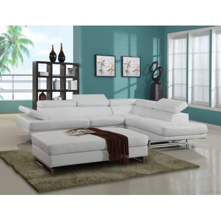 8136 - White Sectional RAF