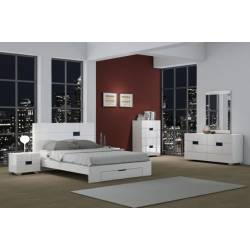 Aria - White 4PC SETS Queen Bed