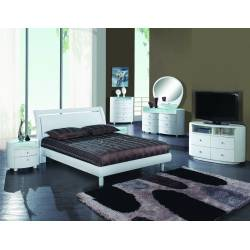 Cosmo - White 4PC SETS California King Bed