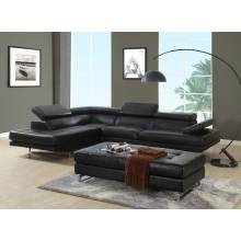 8136 - Black Sectional LAF
