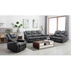 7993 - Gray 2PC SETS Power Reclining Sofa + Power Reclining Loveseat