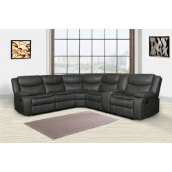 6967 - Gray Reclining Sectional