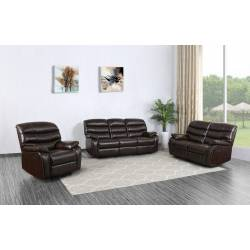 5052 - Dark Brown 2PC SETS Sofa + Loveseat