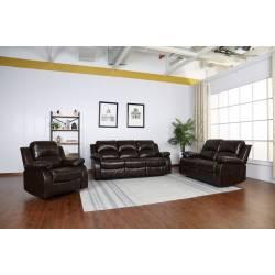 9393 - Brown 2PC SETS Sofa + Loveseat