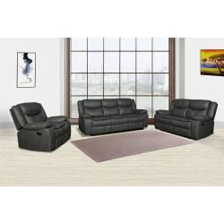 6967 - Gray 2PC SETS Sofa + Loveseat