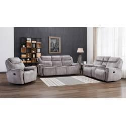 5008 - Gray 2PC SETS Sofa + Loveseat