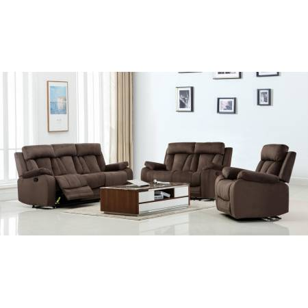 9760 - Brown 2PC SETS Sofa + Loveseat