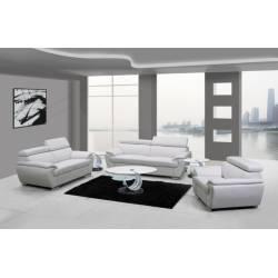 4571 - White 2PC SETS Sofa + Loveseat